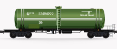 Tank wagons for light and dark oil products