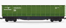Open box wagons for the transportation of light-weight cargos